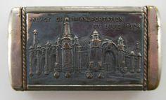 Antique Match Safe 1904 St Louis Worlds Fair Palace Transportation Handy Nice   eBay