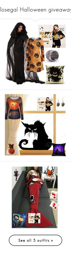 """Rosegal Halloween giveaway"" by a-camdzic ❤ liked on Polyvore featuring Halloween and giveaway"