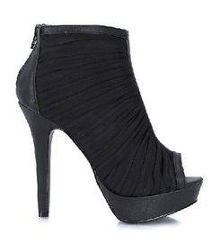 Qupid Shoes Gaze-125 Black Black chiffon ankle booties with decorative pleats, back zipper for easy put on, peep toe detail for a chic touch and faux leather trim for a rock-style feel. The front platform adds stability and bal http://www.MightGet.com/january-2017-12/qupid-shoes-gaze-125-black.asp