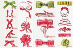 How to tie different ribbons