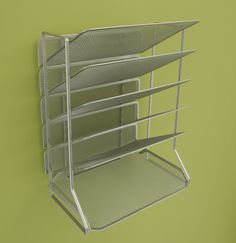Amazon.com: Seville Classics Office Desk Organizer, Platinum Mesh 6-Trays. Wall or table mounted