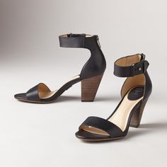 "SKYE BELT SANDALS -- Adding a little va-va-voom to their timeless look and enduring quality, Frye® reimagines the classic stacked heel with a wide, adjustable ankle strap and back zip. Leather. Imported. Whole and half sizes 6 to 10, 11. 3"" heel.View our entire Frye Collection"