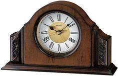 Arched Alder Desktop Clock. h1Arched Alder Desktop Clock_h1Quality and elegance never go out of style. The Arched Alder Desktop Clock is remniscent of the quality of clocks of yesteryear when craftsmanship went into every piece produced.. See More Alarm Clocks at http://www.ourgreatshop.com/Alarm-Clocks-C1126.aspx