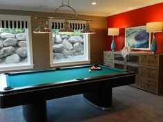 Who wouldn't want a pool table in the basement?