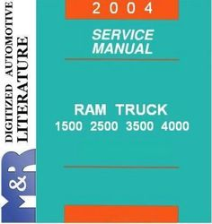 2004 Dodge Ram DR , 1500 , 2500 , 3500 & 5.9L Diesel, Service Shop DOWNLOAD