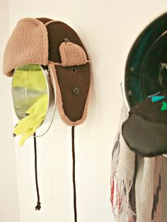 Unique way to store hats! More DIY Dorm Room Decor & Decorating Ideas from HGTV >> http://www.hgtv.com/design/make-and-celebrate/handmade/33-diy-dorm-room-ideas-pictures?soc=pinterest