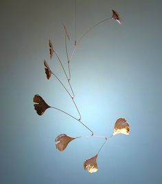 Copper Ginkgo Leaf Mobile from www.etsy.com shop jfjones