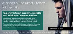 Download Kaspersky Internet Security 2013 First Antivirus for Windows 8 Consumer Preview