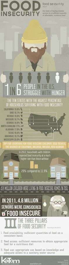 Infographic about Food Insecurity in the US http://www.katom.com/blog/zero-waste-beyond-sustainability/