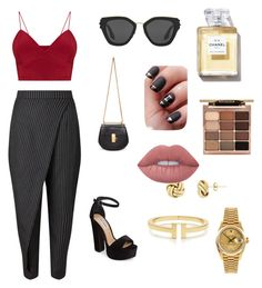 """""""Untitled #1"""" by ialanoud ❤ liked on Polyvore featuring Steve Madden, Chloé, Prada, Tiffany & Co., Rolex, Stila and Lime Crime"""
