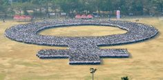 In the Philippines, people set the Guinness World Record for largest human woman symbol on International Women's Day.