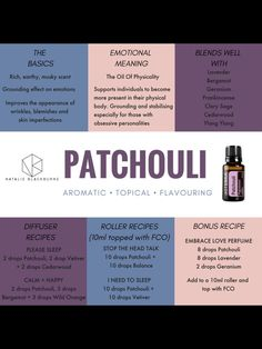Helpful Strategies For Patchouli Essential Oil blends perfume recipes Patchouli Essential Oil, Essential Oil Perfume, Essential Oil Diffuser Blends, Doterra Essential Oils, Cedarwood Essential Oil Uses, Patchouli Oil, Marjoram Essential Oil, Juniper Berry Essential Oil, Cypress Essential Oil
