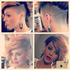 I LOVE my hair!!!! Eeeekkkk! It's so versatile and the shaved side can be exposed or hidden! Change is a great thing!