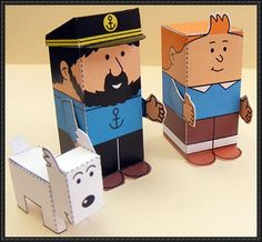 The Adventures of Tintin Mini Paper Toys Free Download