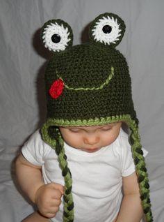 Frog hat is just darn cute