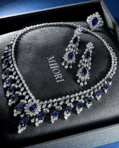 371cfce4f77 Sapphire diamond set from MIIORI fall 2016 collection   luxurydiamondnecklace Jóias De Luxo
