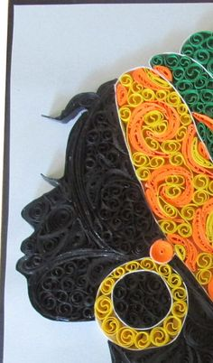 paper quilling african wall decoration by LindMyArt on Etsy