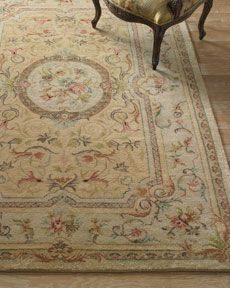 """""""Amogo Aubusson"""" Rug, x by Safavieh at Horchow. French Country Rug, Aubusson Rugs, Needlepoint Pillows, Fabric Rug, Traditional Rugs, Indoor Rugs, Shabby Cottage, Shabby Chic Decor, Rugs On Carpet"""