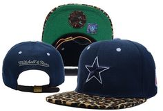 NFL Dallas Cowboys Leopard Fur Mitchell And Ness Navy  5843|only US$8.90