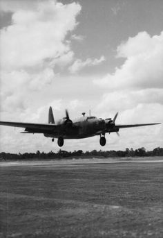 ROYAL AIR FORCE OPERATIONS FAR EAST 1941-1945 (CI 713)   A Vickers Wellington Mark X of No. 99 Squadron RAF, lands at Jessore, India, on returning from a bombing sortie over Burma.