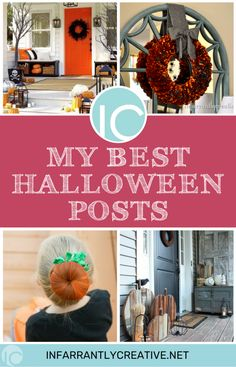 My Best Halloween Posts - Infarrantly Creative Halloween Post, Halloween Projects, Holidays Halloween, Halloween Decorations, Halloween Ideas, Spooky Decor, Easy Diy Crafts, Diy Craft Projects, Knock Off Decor