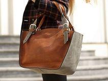 bolso de cuero hecha a mano