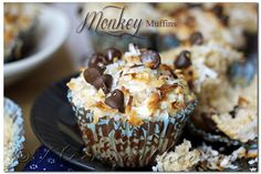 Monkey Muffins are a delicious banana muffin recipe, loaded with coconut & chocolate chips! These make the perfect breakfast to make your day happy!