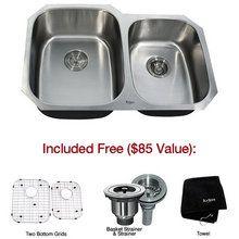 "View the Kraus KBU24 32"" Undermount 60/40 Double Bowl 16 Gauge Stainless Steel Kitchen Sink at Build.com."