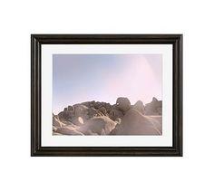 "Joshua Tree Rocks #2 Framed Print by Jane Wilder, 20 x 16"", Ridged Distressed Frame, Black, Mat"