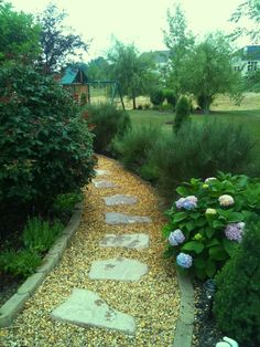 garden path - through our large front mulch area
