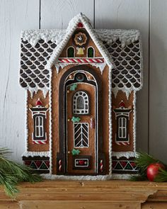 Charming and fanciful gingerbread house - Family Holiday.to get your imagination sparking to create a fanciful, simple, no bake, or sem-homemade holiday candy house this Christmas! Gingerbread Decorations, Christmas Gingerbread House, Gingerbread Cake, Christmas Decorations, Gingerbread Houses, Holiday Candy, Holiday Fun, Christmas Holidays, Christmas Crafts