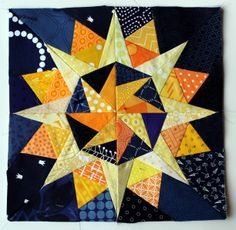 Starry night Cactus Compass block