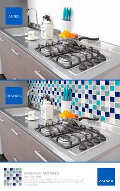 Así de fácil es darle color a tu cocina, combina los elementos y listo.