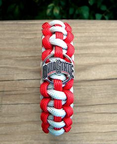 Ohio State Buckeyes Team Paracord Bracelet with by knotcreations, $16.50