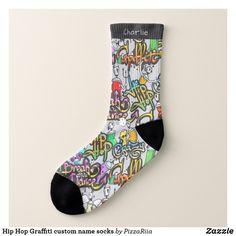 Hip Hop Graffiti custom name socks