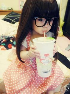 little girls, kawaii, polka dot, children, babi girl, baby girls, ador child, asian babies, kid