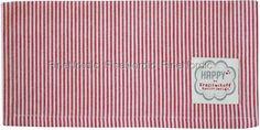 Stoffserviette Red Small Stripes, von Krasilnikoff.