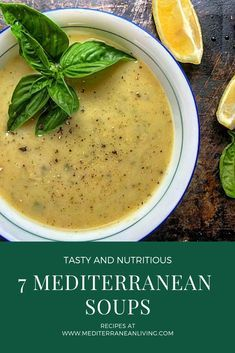 7 Favorite Mediterranean Soup Recipes - Mediterranean Living - - Don't you love it when a food is both a comfort food and good for you? Mediterranean soups are just that! Check out my 7 favorite Mediterranean soup recipes. Mediterranean Diet Food List, Easy Mediterranean Diet Recipes, Mediterranean Dishes, Med Diet, Medatrainian Diet, The Best, Healthy Recipes, Healthy Soup, Check