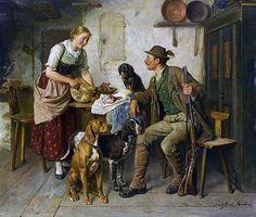 """Adolf Eberle, """"Eine gute Brotzeit"""" (um 1890)"""