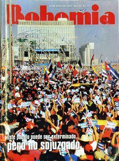 Marcha popular en Cuba contra medidas del Gobierno de EE.UU. 28 de mayo de 2004