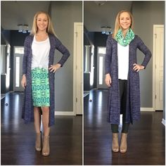 LuLaRoe Classic, LuLaRoe Cassie (as a skirt and a scarf), LuLaRoe Sarah, and of course...leggings!