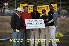 Winning Team - BACA Jupiter's captain Santosh receiving his award from BACA executive team.