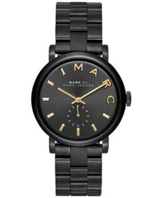 Marc by Marc Jacobs Women's Baker Black Ion-Plated Stainless Steel Bracelet Watch 36mm MBM3358