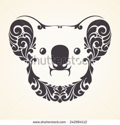 Ornamental decorative koala - stock vector