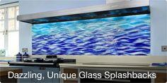 dazzling, unique kitchen glass splashbacks