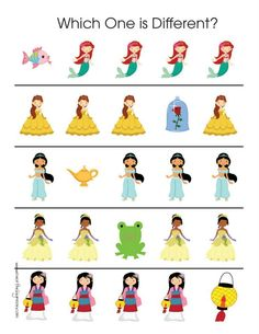 Disney Lessons, Math Lessons, Fairy Tale Theme, Fairy Tales, Dots Game, Disney Theme, Activity Sheets, Color Activities, Preschool Worksheets