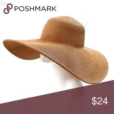 ONLY ONE LEFT!!! Wide Brimmed Straw Hat A chic straw hat fashioned with a floppy brim that will look perfect at the beach or sitting poolside. Tats sold separately. Message me the color you prefer. One of each color is available. Sooo, no one wants to show their face hope these pics help. Accessories Hats