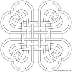 Heart knot to print and color or use as a digital stamp