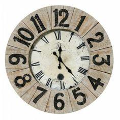 Produit : LINCOLN - Horloge Diam. 70 Cm Vielli Blanchi Thème : Deco 100% naturelle Ajouté à la liste de Sonia via 35ansFly.fr