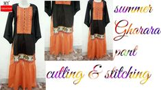 summer gharara pant cutting and stitching Gharara Pants, Press The Button, Kids Wear, Stitching, Seasons, Sewing, Summer, How To Wear, Diy